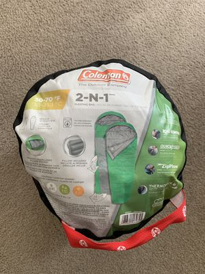 Coleman Sleeping Bag 30-70 degrees F for Sale in San Diego, CA