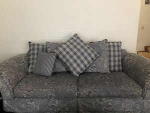 Big and little sofa blue floral couches for Sale in Corona, CA