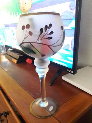 tall wine glass for Sale in Tempe, AZ