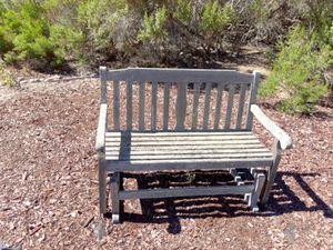 Wood glider bench for Sale in San Luis Obispo, CA