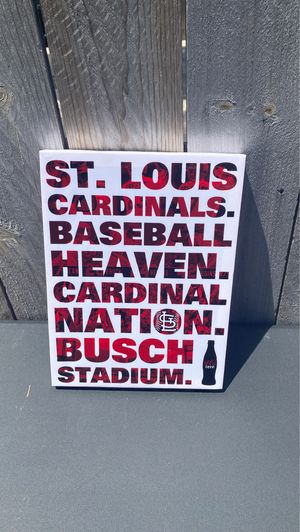 Cardinals canvas 9x12 for Sale in St. Louis, MO