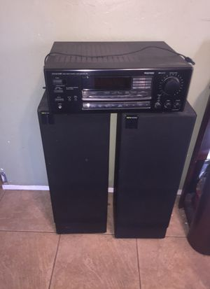 Pair kef k series speakers and onkyo audio amplifier receiver for Sale in San Diego, CA