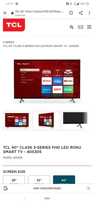 "Brand New 40"" TCL Roku Smart TV for Sale in Los Angeles, CA"