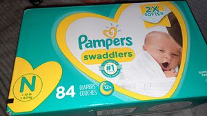 Pampers Swaddlers - size Newborn, qty. #84 for Sale in San Diego, CA