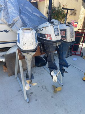 Outboards 3 hondas, parts or? for Sale in Lemon Grove, CA