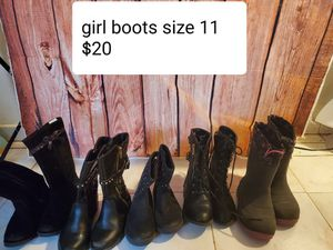 Girl boots size 11 $20 for all for Sale in Chicago, IL