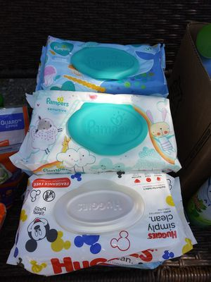 Pampers and huggie wipes 1.50$ each must pick up for Sale in Houston, TX