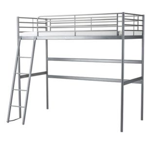Twin Gray Metal Loft Bed for Sale in Milton, WA