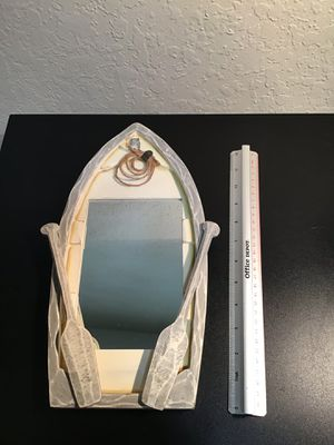 Row boat with paddles mirror wood home decor for Sale in Fort Lauderdale, FL