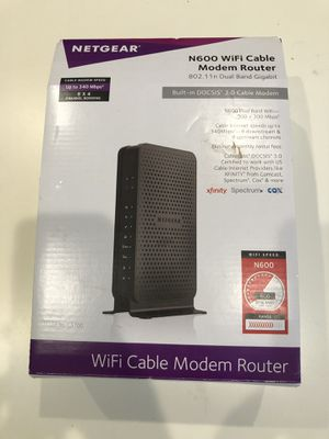 netgear c3700 wifi cable modem router for Sale in Fort Collins, CO