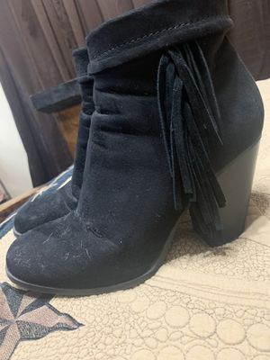 Black Fringe Booties for Sale in Cypress, TX