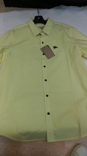 Short sleeve burberry button up for Sale in Paterson, NJ