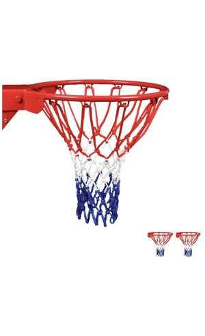 HUAHUA Basketball Net Replacement Heavy Duty Net in All Weather for Indoor and Outdoor - Standard Size of 12 Loop Basketball Hoop for Sale in Rosemead, CA