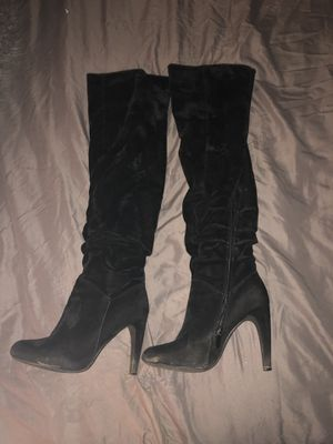 Black thigh high boots for Sale in Dunwoody, GA