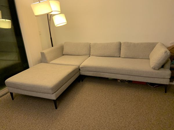 West Elm Andes 3 piece sectional (with Ottoman)