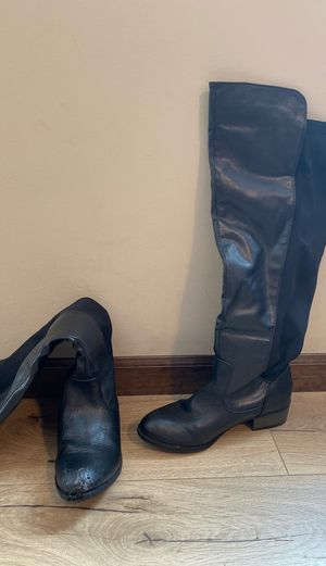 Knee-High Black boots, size 7 for Sale in Wichita, KS