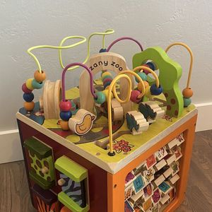 Zany Zoo Wooden Activity Cube for Sale in San Diego, CA