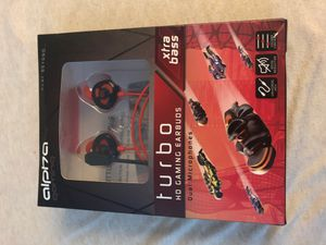 Alpha gaming - Turbo HD gaming earbuds for Sale in Cedar Park, TX