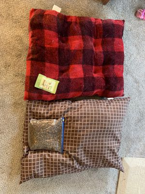 Dog bed 2, dog food , treats for Sale in Oshkosh, WI