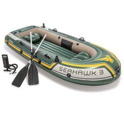 BNEW Intex Seahawk 3, Inflatable Boat Set w/ Aluminum Oars & Air Pump for Sale in LUTHVLE TIMON,  MD