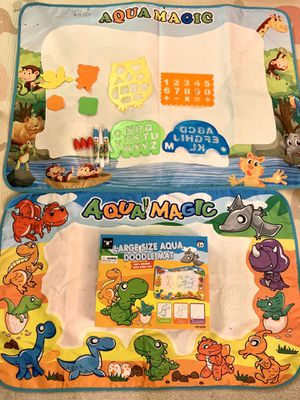Good condition 2 large size Aqua doodle mat with accessories for Sale in Temple City, CA