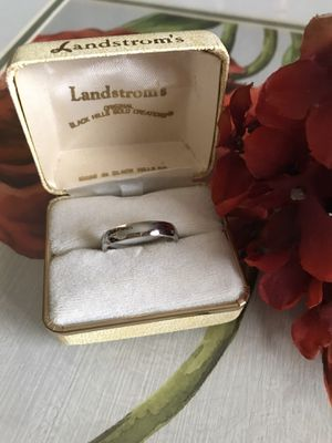 18k White gold Filled Engagement/Wedding ring band Sz7,8 for Sale in Wood Dale, IL
