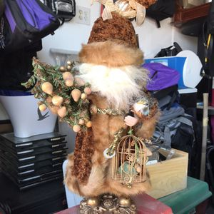Table Top Santa With Bird And Cage for Sale in Las Vegas, NV