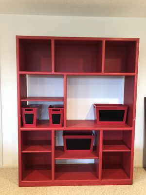 Bookcase- wood paintable to any color bookshelves bookshelf for Sale in Bellevue, WA