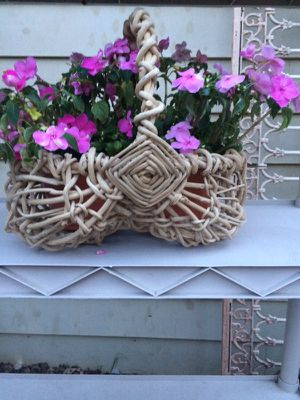 Adorable One of a Lind Whicker Basket for Sale in Sterling, VA