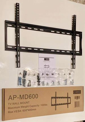 "New LCD LED Plasma Flat Fixed TV Wall Mount stand 32 37"" 40"" 42 46"" 47 50"" 52 55"" 60 65"" inch tv television bracket 100lbs capacity for Sale in Los Angeles, CA"