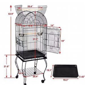 """63"""" Rolling Open Top STURDY Bird Cage with Detachable Stand Cockatiel Macaw Home for Sale in Monterey Park, CA"""