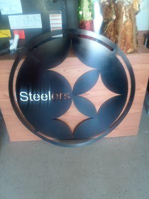 STAINLESS STEEL STEELERS LOGO for Sale in Deltona, FL