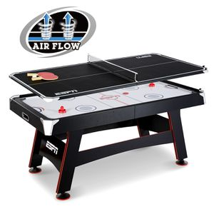 ESPN 72 Inch Air Powered Hockey Table with Table Tennis Top & In-Rail Scorer, Shipping Damaged, Never Used for Sale in Houston, TX