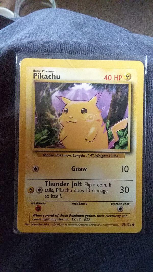 "1995 Pokemon Pikachu ""Purple Sky"" Mint Cond"