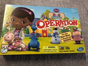 DOC McStuffins Operation Board Game for Sale in Coal Center, PA