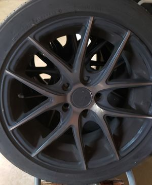 """17"""" Niche Targa Black Rims (mounted on tires) for Sale in Portland, OR"""