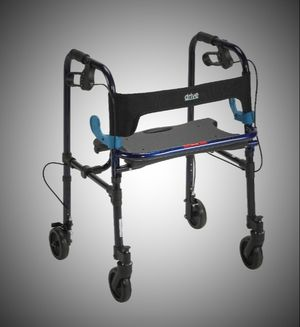 """Drive Medical Clever Lite Walker Rollator, Adult, 5"""" Wheels, Flame Blue for Sale in Saint Joseph, MO"""