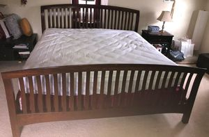 California King Bed Set w/ Antique Wood Frame for Sale in Norfolk, VA
