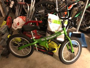 """Go glider balance bike 16"""" for 4-7 year olds barely used for Sale in San Diego, CA"""