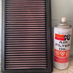 K&N KN 33-2473 Air Filter For Honda Civic Acura ILX Kia Hyundai (various Years)$50 Retail for Sale in San Antonio,  TX