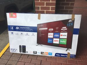 "55"" TCL ROKU TV for Sale in Fairfax, VA"