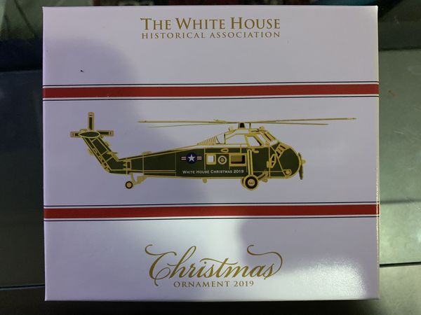 White House Christmas ornaments 2019