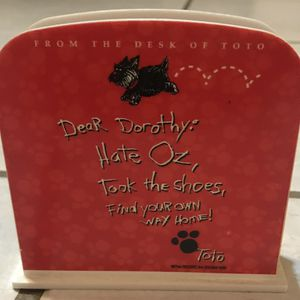 From the desk of Toto letter holder for Sale in Fort Pierce, FL