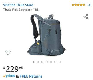 $230+tax on Amazon, Thule Rail Backpack 18L for Sale in San Diego, CA