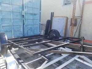 Black trailer flat single axle for Sale in Escondido, CA