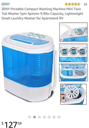ZENY Portable Compact Washing Machine Mini Twin Tub Washer Spin Spinner 9.9lbs Capacity, Lightweight Small Laundry Washer for Apartment RV for Sale in Colton, CA