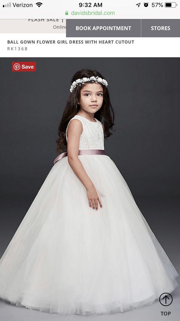 David's Bridal Flower Girl/ Mini Bridesmaids Dress
