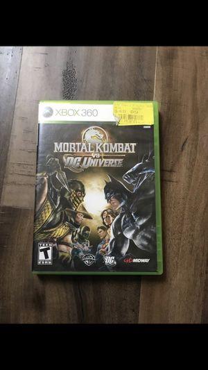 Mortal Kombat bs Dc Universe Xbox 360 for Sale in San Antonio, TX