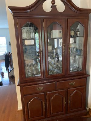China Cabinet with Hutch for Sale in Ashburn, VA