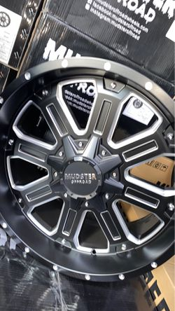 Mudster off road 20x9 5x127 5x139 rims with tires full package for Sale in Madison Heights,  MI